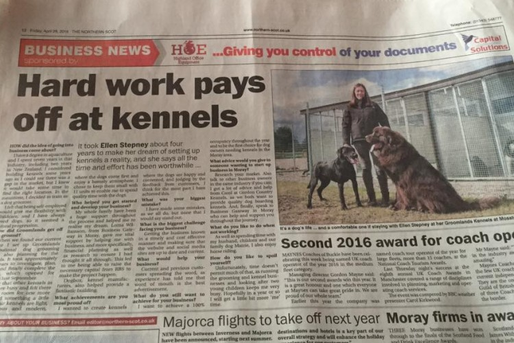 Hard work pays off at kennel